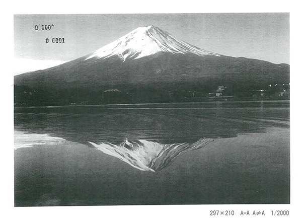東地雄一郎「A=A A≠A(mountain)」